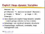 explicit heap dynamic variables20