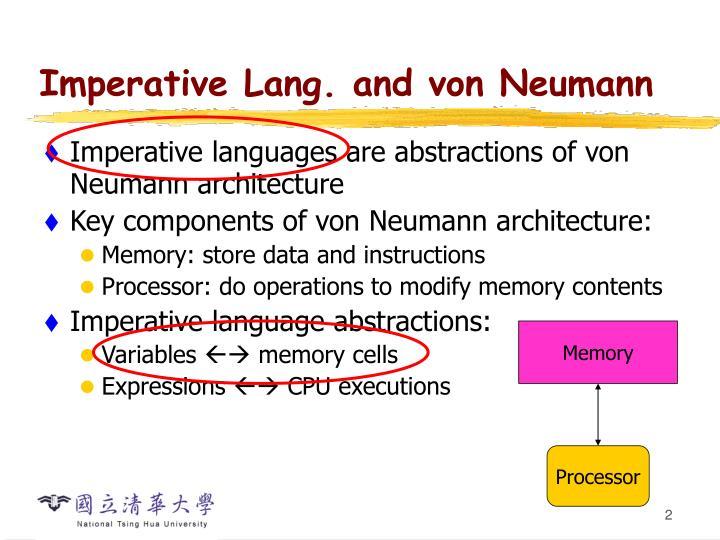 Imperative lang and von neumann