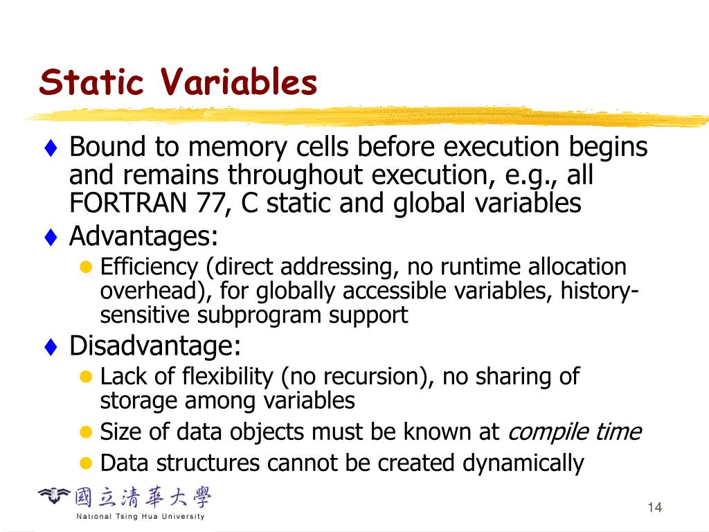Static Variables