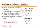 variable attributes address