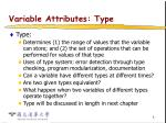 variable attributes type