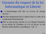 garante du respect de la loi informatique et libert