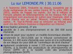 lu sur lemonde fr 30 11 06