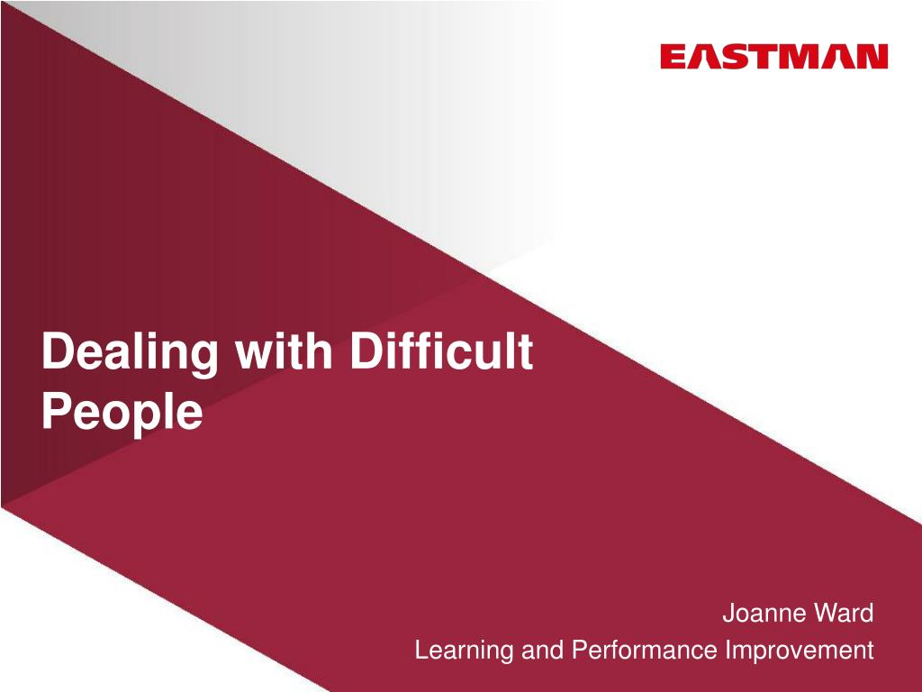 dealing with difficult people l.