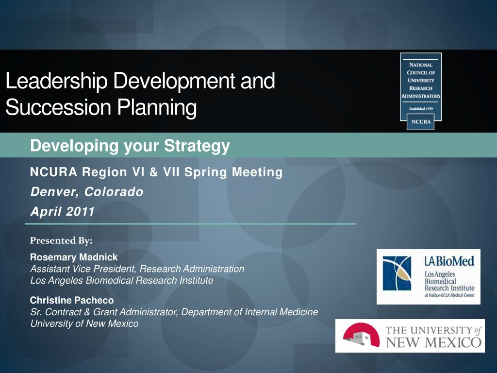 leadership development and succession planning l.