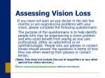 assessing vision loss13
