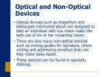 optical and non optical devices