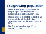 the growing population