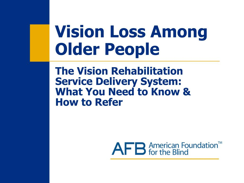 vision loss among older people l.