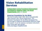 vision rehabilitation services16
