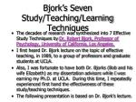 bjork s seven study teaching learning techniques