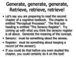 generate generate generate retrieve retrieve retrieve60