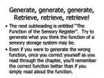 generate generate generate retrieve retrieve retrieve61