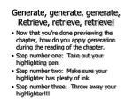 generate generate generate retrieve retrieve retrieve62