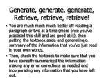 generate generate generate retrieve retrieve retrieve64