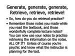 generate generate generate retrieve retrieve retrieve70