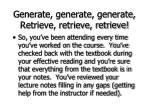 generate generate generate retrieve retrieve retrieve74