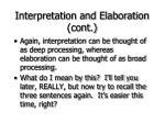 interpretation and elaboration cont21