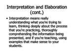 interpretation and elaboration cont23