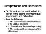 interpretation and elaboration