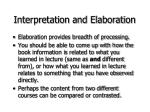 interpretation and elaboration25