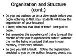 organization and structure cont41