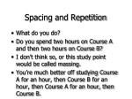 spacing and repetition34