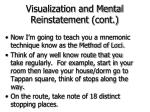 visualization and mental reinstatement cont48