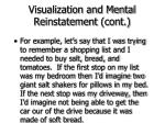 visualization and mental reinstatement cont50