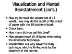 visualization and mental reinstatement cont53