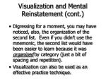 visualization and mental reinstatement cont54