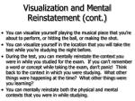 visualization and mental reinstatement cont55