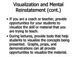 visualization and mental reinstatement cont56