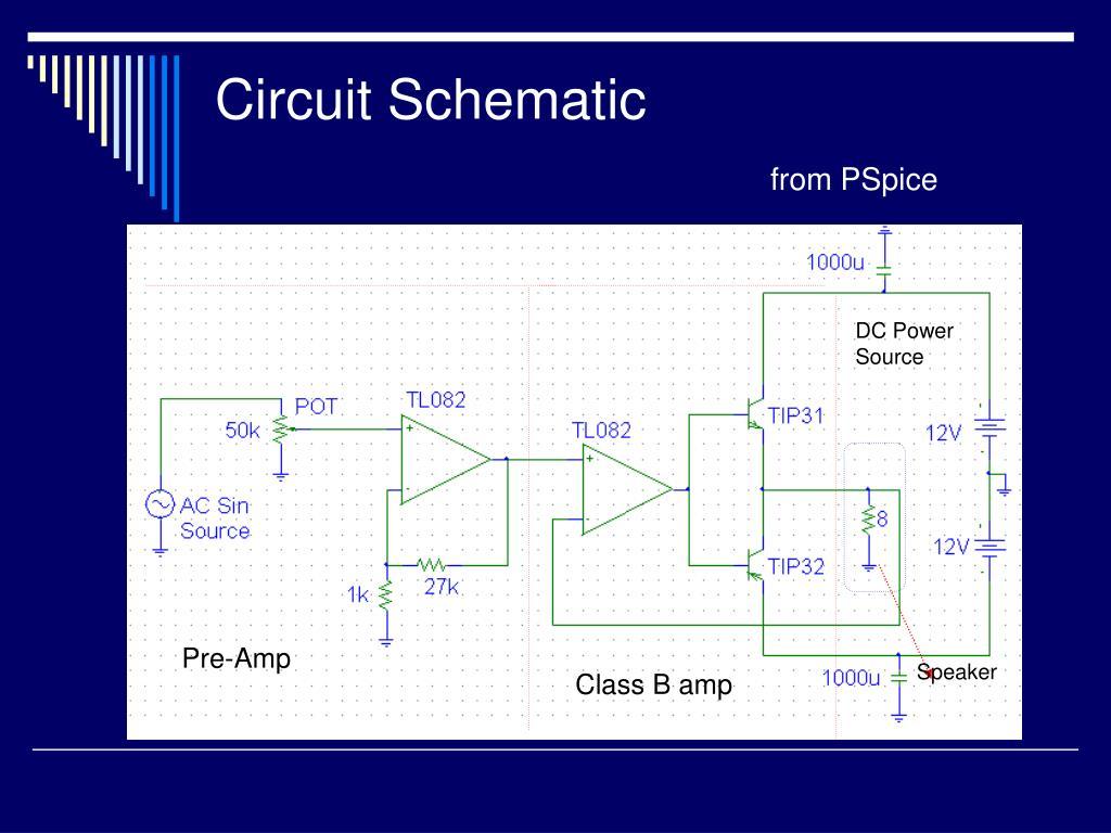 PPT - Class B Audio Amplifier PowerPoint Presentation - ID:52528