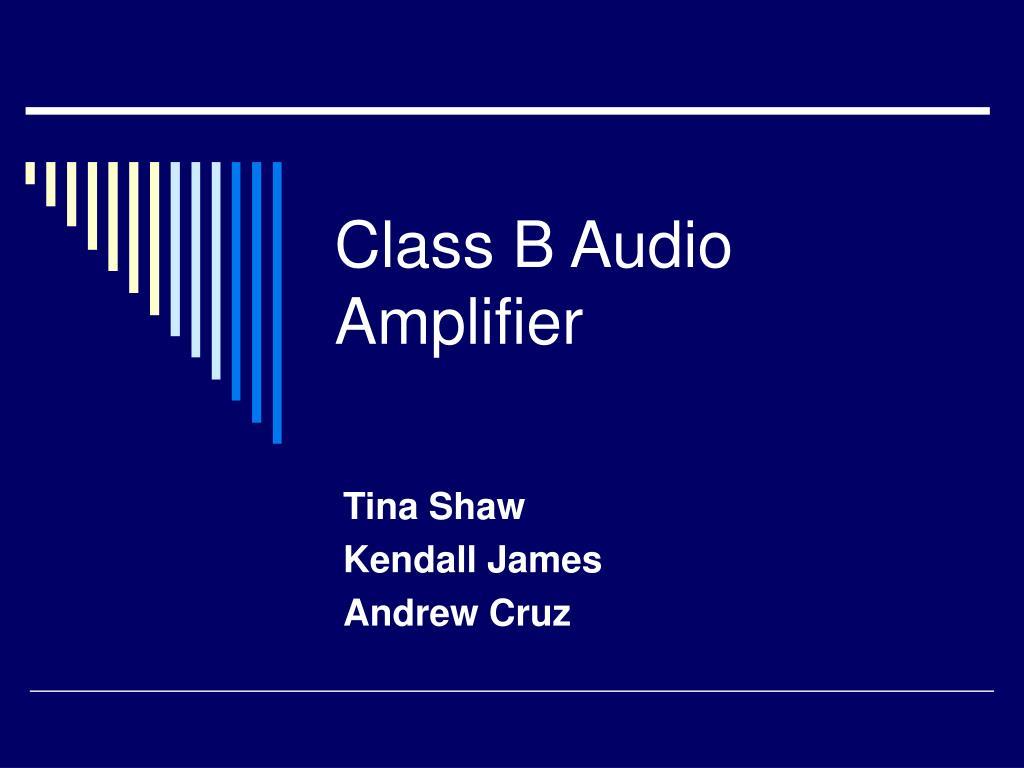 class b audio amplifier l.