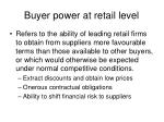 buyer power at retail level