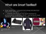 what are smart textiles