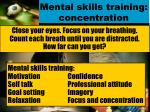 mental skills training concentration