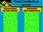 total football or 4 4 2