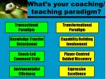what s your coaching teaching paradigm