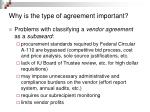 why is the type of agreement important6