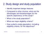 2 study design and study population