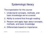 epidemiologic literacy