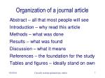 organization of a journal article