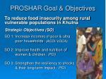 proshar goal objectives