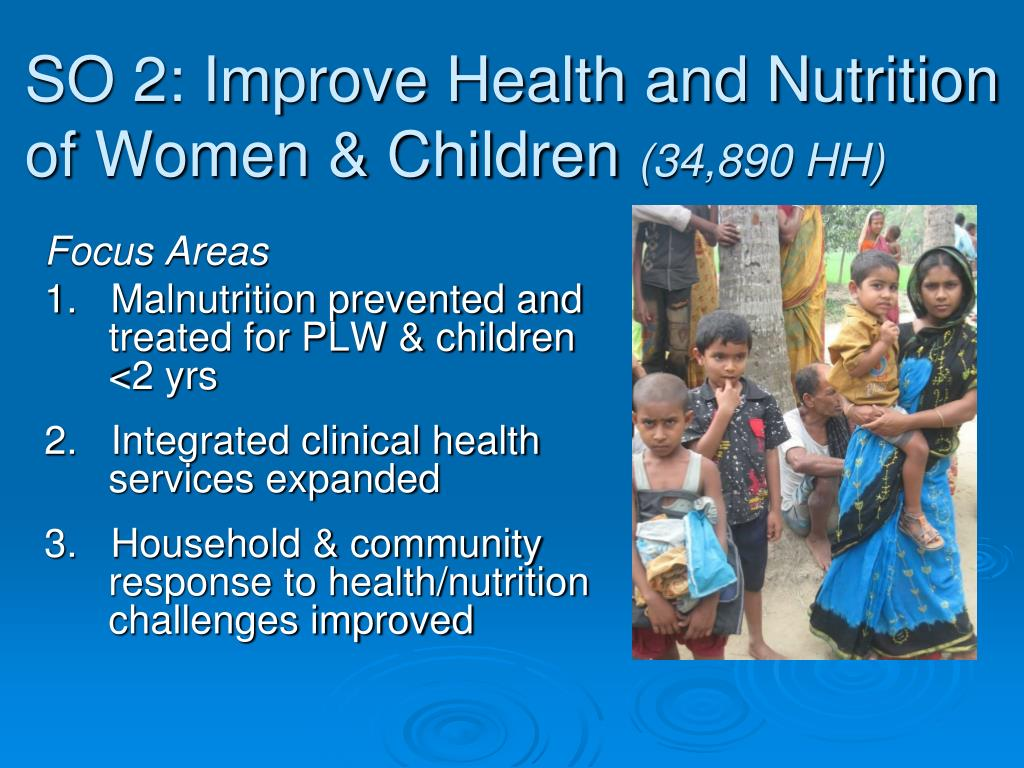 SO 2: Improve Health and Nutrition of Women & Children