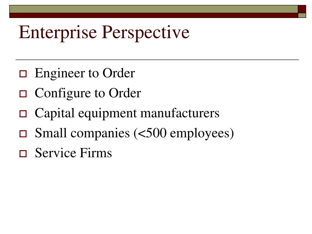 Enterprise Perspective