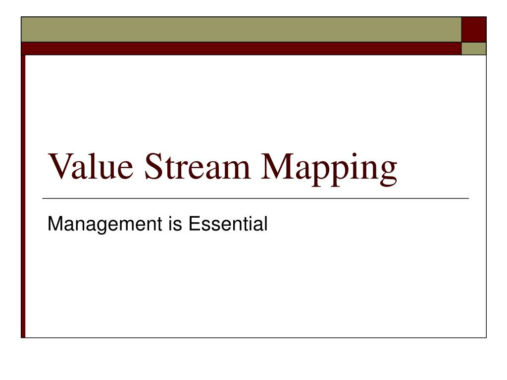 value stream mapping l.