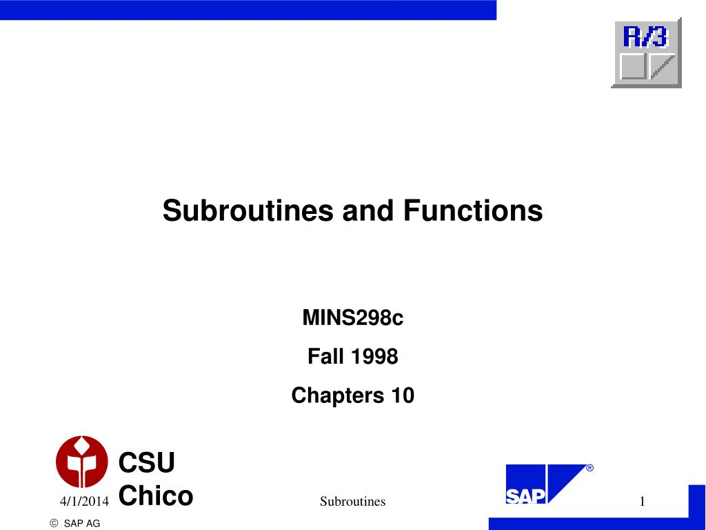 subroutines and functions l.