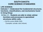 south dakota core science standards